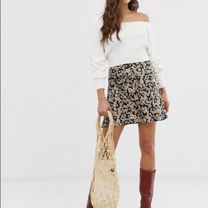 Free People Phoebe A-line Mini Skirt Size 8 NWT
